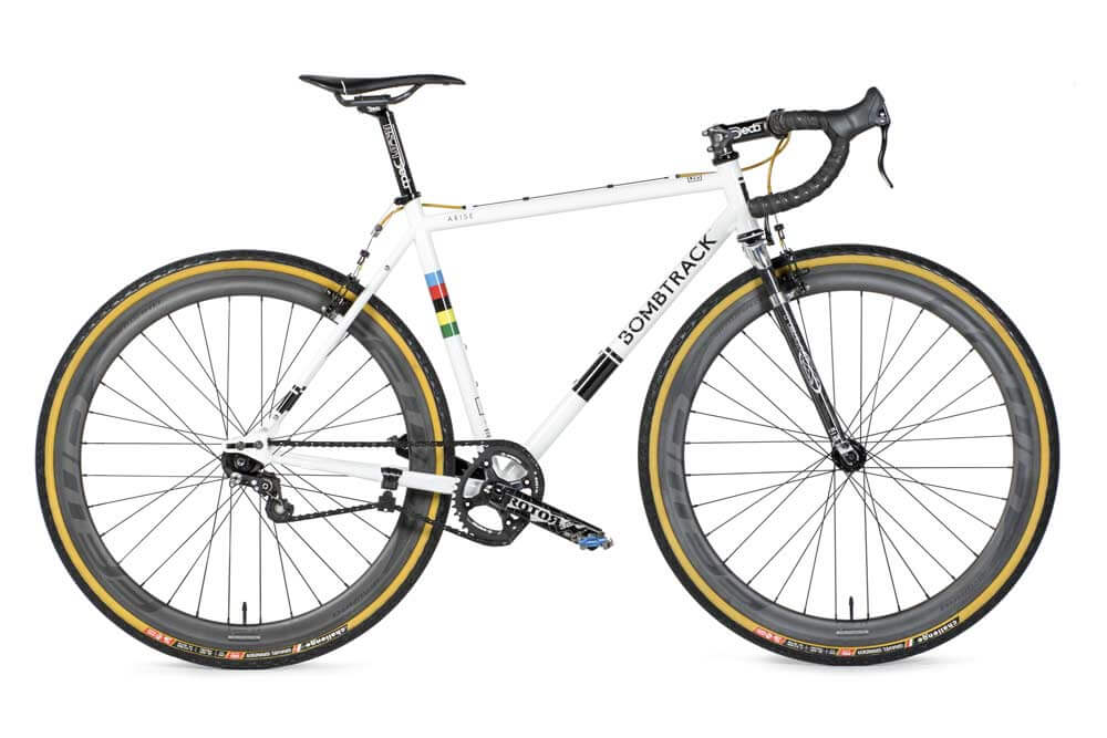 Bombtrack single speed cyclocross bike with the Wound Up Team X cyclocross fork