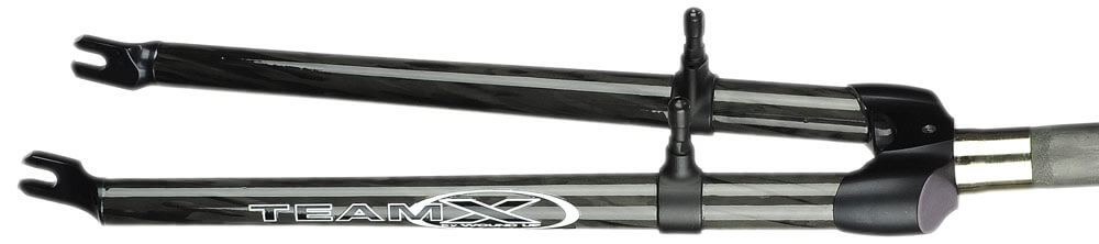 Wound Up Composite Cycles carbon fiber filament wound Team X cyclocross bike fork with anodized aluminum crown and canti brake bosses