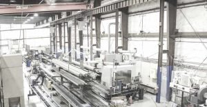 Filament winding workfloor in Advanced Composites Inc manufacturing facility in Salt Lake City Utah